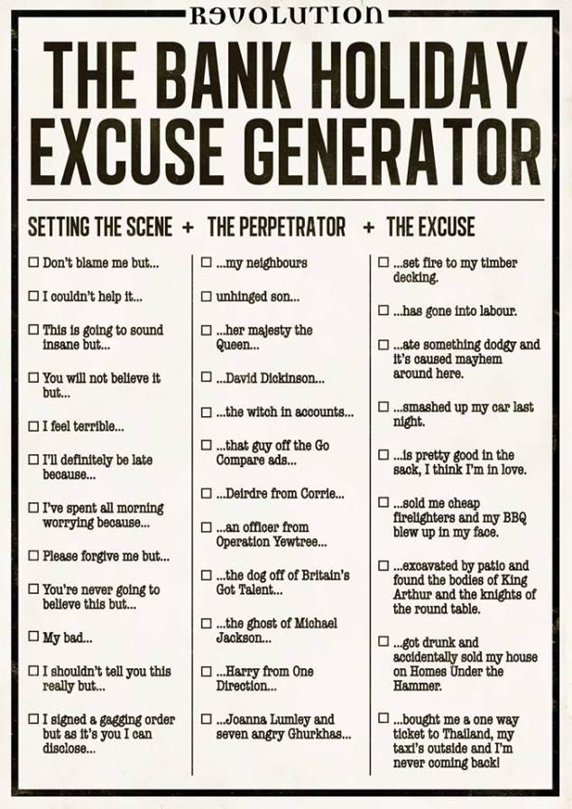 Excuse Generator